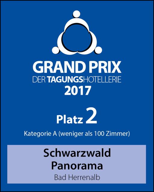 Urkunde 2. Platz Grand Prix der Tagungshotellerie 2017/2018 vom Tagungshotel Schwarzwald Panorama