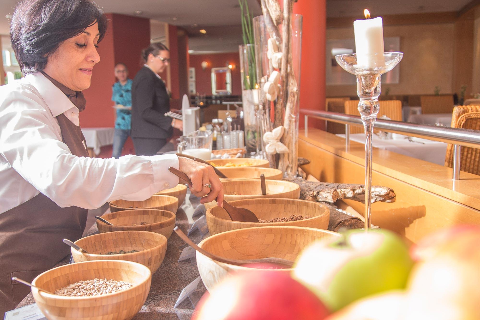 weihnachtliches Dessert beim Adventsbrunch im Hotel Schwarzwald Panorama