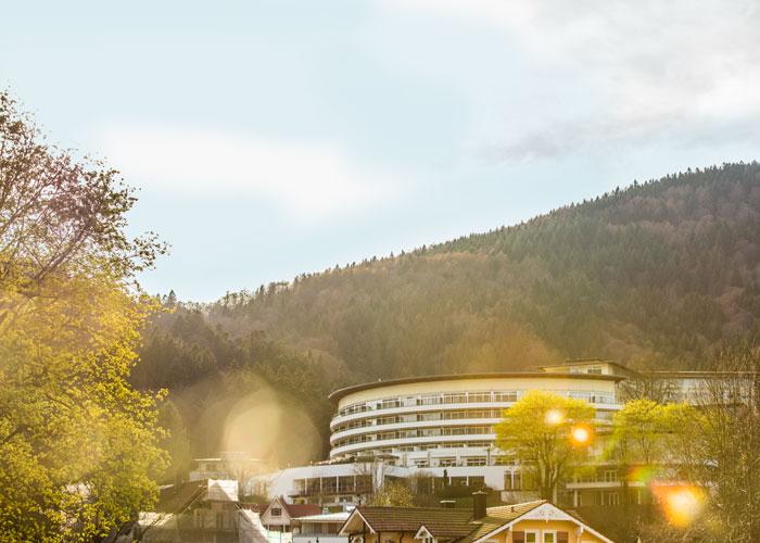 Außenaufnahme vom Schwarzwald Panorama mit Wald im Hintergrund