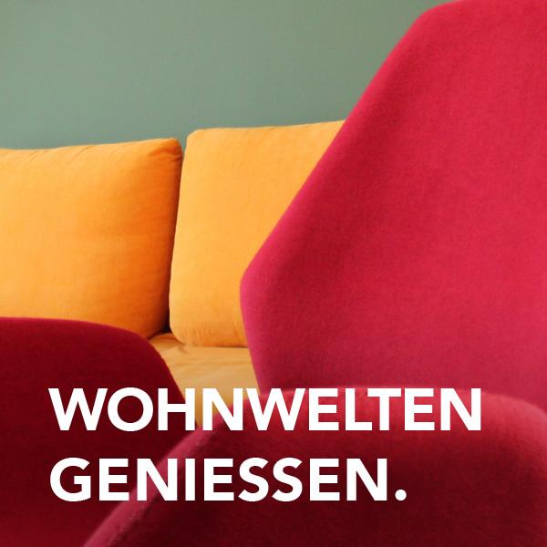 Wohnwelten genießen mit Detailaufnahme Couch