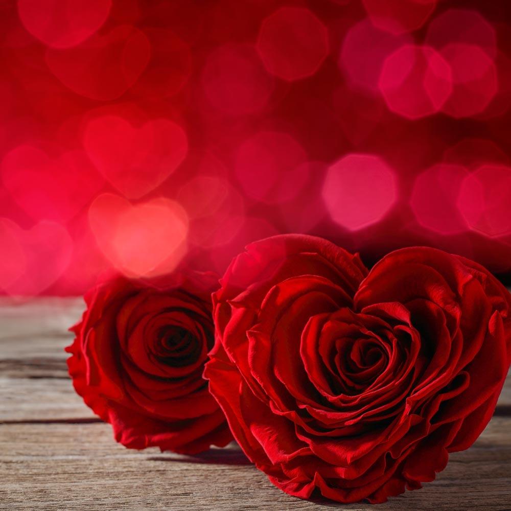 Rosen in Herzform zur Silberhochzeit und Goldenen Hochzeit