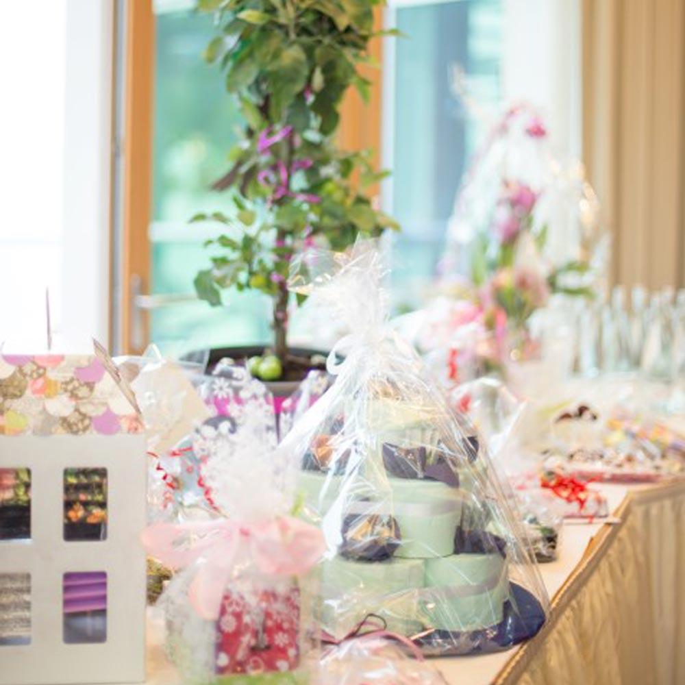 Geschenketafel bei einer Hochzeitsfeier im Schwarzwald Panorama